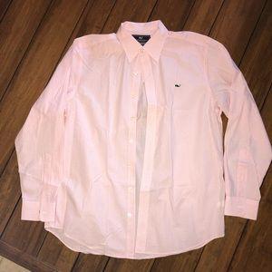 Vineyard Vines Slim Fit Whale Shirt Pink Checkered